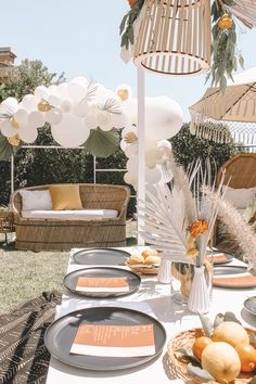 Sunshine Meets Citrus Baby Shower Under the Sun - Inspired By This Deco Baby Shower, Bebe Shower, Baby Shower Themes, Shower Party, Baby Shower Parties, Baby Shower Table Set Up, Baby Shower Chair, Baby Shower Decorations For Boys, Baby Shower Cakes