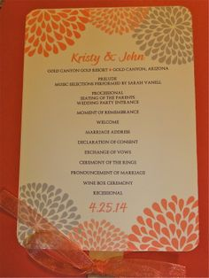 Wedding guests in Arizona need 2 things! Water and fans! One couple printed the wedding program on one side and the names of the wedding party, etc., on the reverse side!