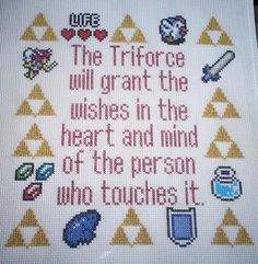Legend of Zelda cross stitch.  What's with the Legend of Zelda cross stitch patterns!  I can't believe I have seen two tonight!