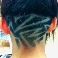 Nape undercut hairstyle designs: Geometric. http://strayhair.com/hairstyles/12-nape-undercut-hairstyle-designs/