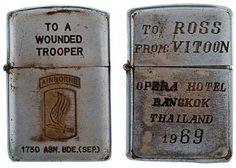 vietnam zippo lighters engravings