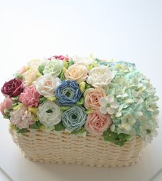 Frivolous Fabulous - Butter Cream Basket Flower Cake