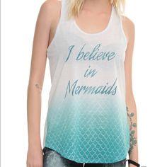 I Believe In Mermaids Tank Size medium. Brand new. Never worn. Hot Topic Tops Tank Tops