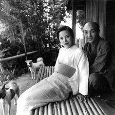 Yoshiko Yamaguchi and her husband Isamu Noguchi