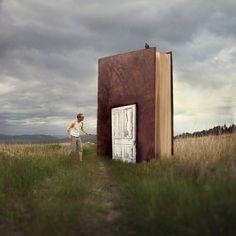 When you start a book you walk through that door :)