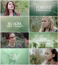 Octavia Blake, Clarke Griffin, John Murphy and Raven Reyes || The 100 || Delinquents || Marie Avgeropoulos, Eliza Jane Taylor, Richard Harmon, Lindsey Morgan