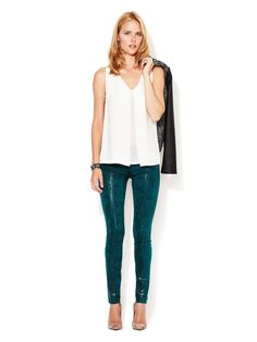 Sheen Python Skinny Jean by 7 for All Mankind at Gilt