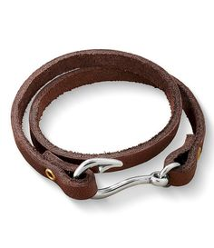 James Avery Sterling Silver Fish Hook Leather Wrap Bracelet - would be a great gift idea for the men in your life!