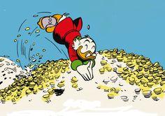 Zio Paperone (Uncle Scooge) - Topolino (Mickey Mouse) walt disney