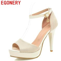 1c8946654bc6 Egonery fashion sexy sandals woman platform high heels sexy party shoes  pumps ladies outside sandals shoes