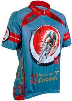 Vuelta Cataluna 1952 Retro Art Poster Classic Short Sleeve Cycling Jersey e41ee2bc4c8ec