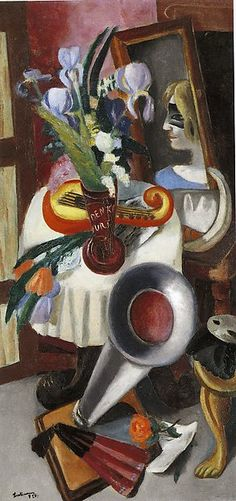 Max Beckmann | Still Life with Gramophone and Iris | The Met