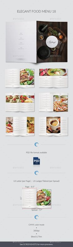 Food Menu Food design, Restaurants and Table tents - food menu template