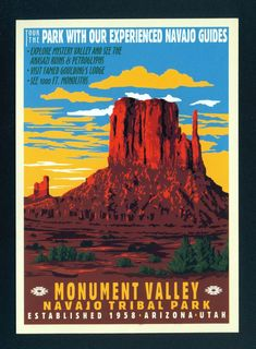 Wpa Posters, A4 Poster, Poster Wall, Retro Posters, Movie Posters, Navajo, National Park Posters, National Parks, Monument Valley