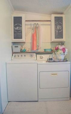 Beautiful Manufactured Home Decorating Ideas - Laundry Room