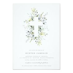 Shop Dusty Blue Florals Baptism Invitation created by FINEandDANDY. Baptism Cards, First Communion Gifts, Baptism Invitations, Floral Invitation, Dusty Blue, Beautiful Hands, White Envelopes, Christening, Blue And White