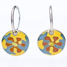 Smalto Enamel (@SmaltoEnamel) | Flora. Cloisonne enamel earrings with floral ornament. #jewelry #cloisonne #enamel #handmade