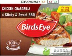 Birds eye chicken chargrills