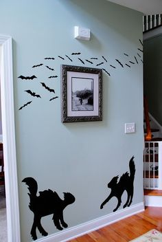 DIY Halloween Contact Paper Silhouettes by jami