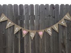 ITS A GIRL BANNER Its A Girl Sign Girl Baby by TwoChikkadees