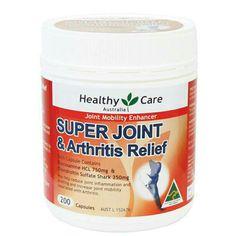 Toko Vitamin & Suplemen: Super Joint & Arthritis Relief 200 Vitamin Untuk M. Arthritis Relief, Health Care, Vitamins, Healthy, Chemist, Art Supplies, Warehouse, Amp