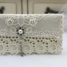Fold Over Clutch Bridal Clutch Vintage Inspired Wedding Bridal Clutch, Wedding Clutch, Bridal Shower Gifts For Bride, Bride Gifts, Bridesmaid Accessories, Bridal Accessories, Vintage Gloves, Vintage Linen, Lace Purse