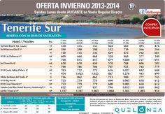Oferta Enero-Abril.Tenerife Sur desde 476€ Tax incl. Desde Alc, salidas Lunes con UX ultimo minuto - http://zocotours.com/oferta-enero-abril-tenerife-sur-desde-476e-tax-incl-desde-alc-salidas-lunes-con-ux-ultimo-minuto/