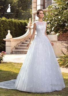Elegant Lace Jewel Neckline A-line Wedding Dresses With Detachable Train Wedding Dresses Plus Size, Bridal Wedding Dresses, Marie, Evening Dresses, Neckline, Elegant, Jewel, Collection, Style