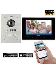 Beliebte Marke Yobang Sicherheit 4 Einheiten Wohnung 7inch Video Türklingel Tür Telefon Visuelle Freisprecheinrichtung Intercom Kamera Monitor Sicherheit System Video Intercom Sicherheit & Schutz