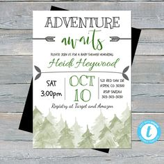 Baby Shower Decorations For Boys, Baby Shower Invitations For Boys, Baby Shower Printables, Baby Shower Favors, Baby Shower Themes, Baby Boy Shower, Baby Theme, Shower Ideas, Forest Baby Showers