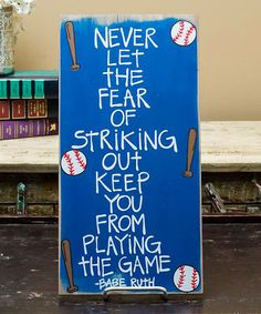 This Royal Blue 'Babe Ruth' Block Sign Set is perfect! #zulilyfinds