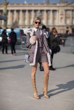 Street Style Fall 2013: Paris Fashion Week - Lena Perminova