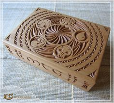 Magic The Gathering Card Box, Chip Carved - Mtg Edh Deck, Commander, Holds 100…