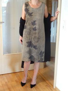Trägerkleider - Ecoprint Kleid - ein Designerstück von Halja_H bei DaWanda