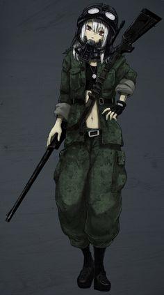Tags: Anime, Rifle, Shotgun, Goggles, Helmet, Gas Mask, Sniper Rifle