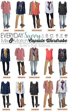Here is a new board full of casual fall outfits. These pieces mix and match for 15 great outfits that will have you looking great this fall. These items are all casual and comfy so not a true capsule wardrobe but will have you looking great for any casu