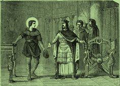 Saint Éloi, encore orfèvre, réalise deux magnifiques trônes pour le roi Clotaire II.- CLOTAIRE II, 2) BIOGRAPHIE. 2.6: CLOTAIRE SEUL ROI DES FRANCS (613-629). 2.6.3: DAGOBERT, ROI D'AUSTRASIE (623), 2: En même temps, Clotaire opére un changement territorial en attribuant la région de Reims à la Neutrie. Mais Dagobert, devenu un véritable Austrasien, obtiendra en 626 le retour de Reims à son royaume.