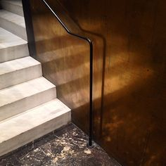 "Brass and marble. Sublime stair detail for the restaurant ""Blue"" by French architect Joseph Dirand."