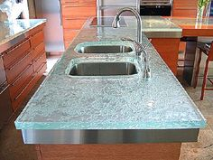 Awesome glass countertop