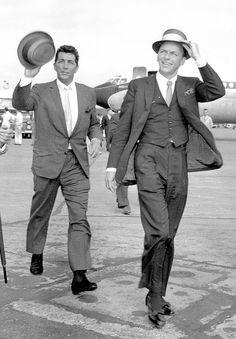 Frank Sinatra and Dean Martin in London 1961 : OldSchoolCool
