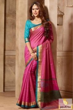 Get the enchanting elegance with this fashionable pink color art silk wedding saree online shopping with cheap price. Purchase trendy party wear sarees 2016 online collection with worldwide shipping. #saree, #sari, #sarees, #partywearsaree, #newyearsarees, #silksaree, #sareeonline, #buysaree, #sareewithblouse More : http://www.pavitraa.in/store/silk-sarees/ Call / WhatsApp : +91-76982-34040 E-mail: info@pavitraa.in