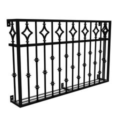 Liven up exteriors with faux balcony and balconet designs in aluminum, steel and wrought iron. Balcony Grill Design, Balcony Railing Design, Window Grill Design, Wrought Iron Porch Railings, Wrought Iron Gates, Iron Staircase, Staircase Railings, Staircases, Stairs