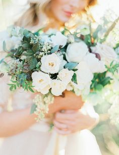 Photography : Sally Pinera   Floral Design : Heirloom Design House Read More on SMP: http://www.stylemepretty.com/2016/01/15/ojai-winter-wedding-inspiration-pear-brandy-champagne-cocktail/