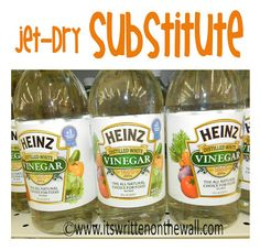 Use this instead of Jet-Dry (vinegar)