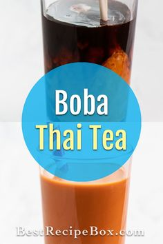 Our boba Thai tea recipe is the best. This refreshing drink is great to refresh yourself the rest of this hot Summer. Refreshing Drinks, Summer Drinks, Cocktail Drinks, Cocktails, Thai Tea Recipes, Drink Recipes, Best Recipe Box, Homemade Bubbles, Cocktail