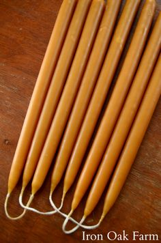 Learn how to make dipped beeswax candles to give as gifts or to enjoy on long winter nights.