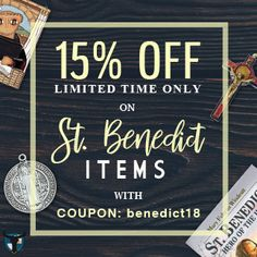20 best st benedict images on pinterest catholic catholic saints save 15 on st benedict items with coupon code benedict18 click on the fandeluxe Gallery
