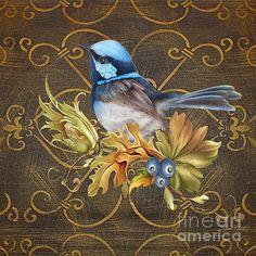 Glorious Birds-b Print By Jean Plout