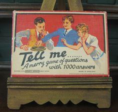 Vintage Tell Me game, via Flickr.