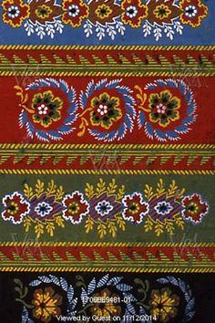 Floral textile design. France, 19th century